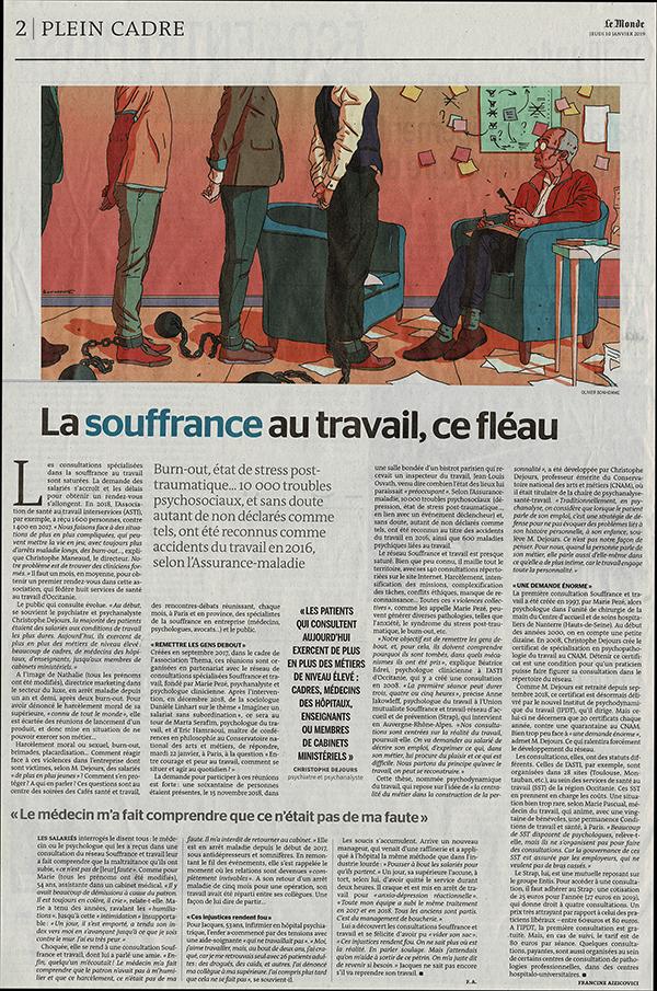 Les Cafés Citoyens Santé Travail dans le journal Le Monde