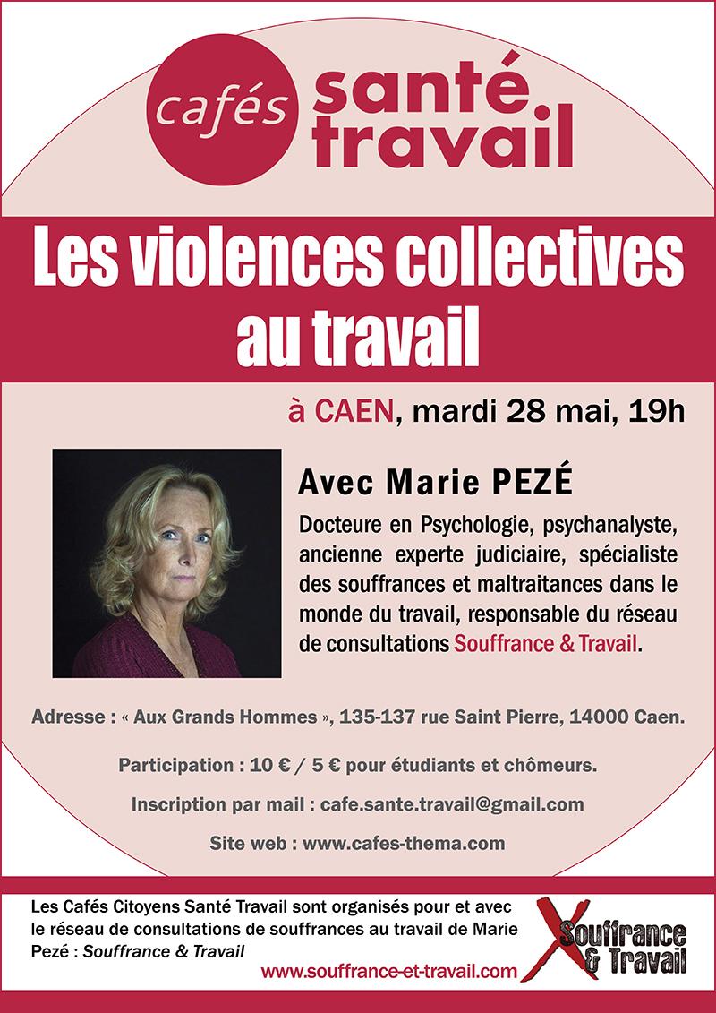 Marie Pezé à Caen : Café Citoyen Santé Travail