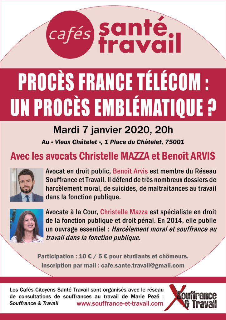 Procès France Télécom - Café Citoyen Santé Travail avec Benoit Arvis et Christelle Mazza