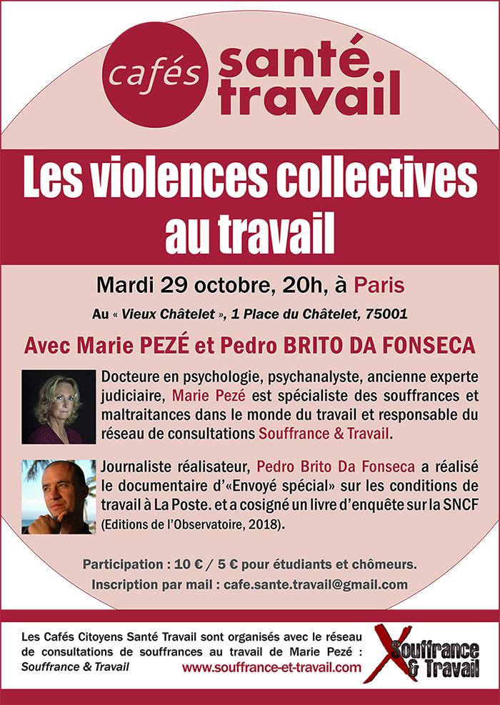Les violences collectives - Café Santé Travail