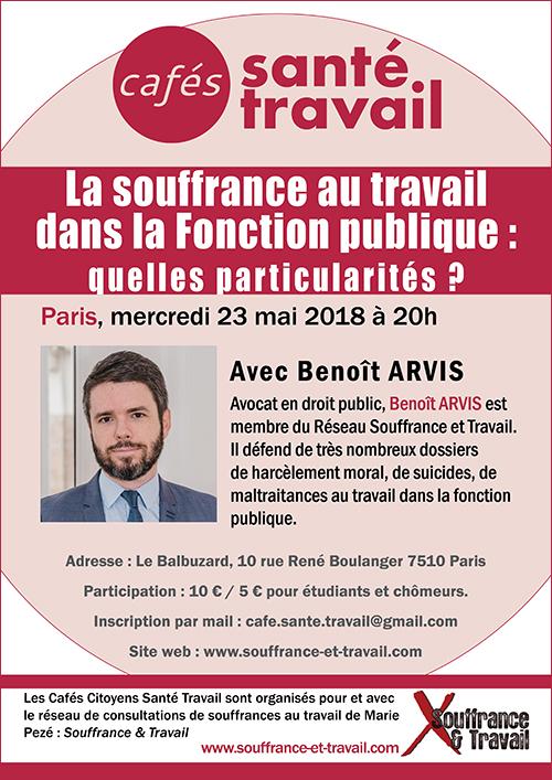 Souffrance au travail dans la Fonction publique - Café Santé Travail avec Benoît Arvis