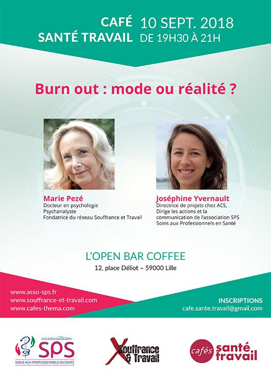Café Santé Travail à Lille avec Marie Pezé