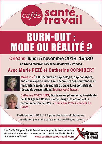 ORLÉANS : Café Santé Travail « Burn-out : mode ou réalité ? »