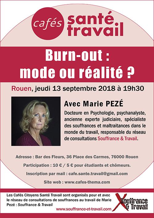 Rouen - Café Citoyen Santé Travail sur le burn-out