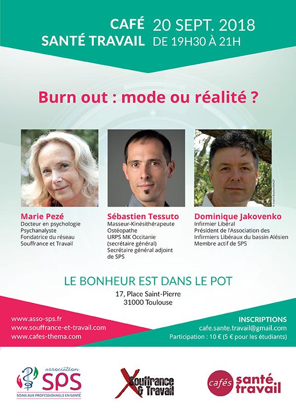 TOULOUSE : Café Santé Travail sur le burnout