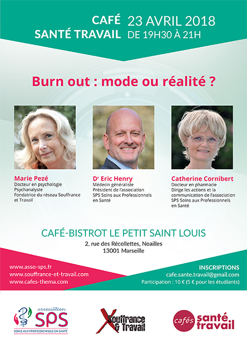 Café Santé Travail à Marseille avec Marie Pezé
