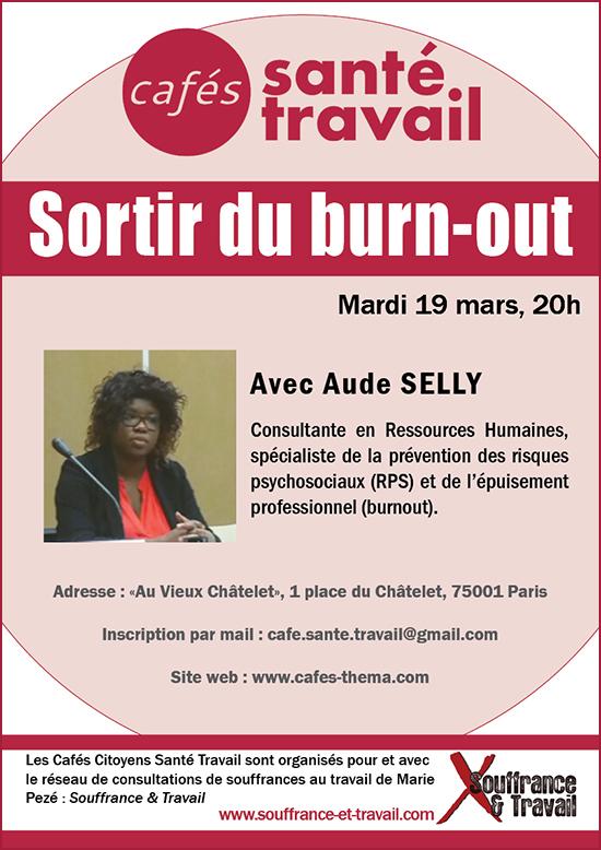 Sortir du burnout - Café Citoyen Santé Travail avec Aude SELLY