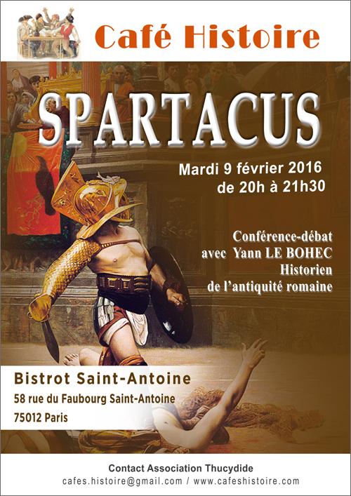 Café Histoire sur Spartacus avec Yann LE BOHEC