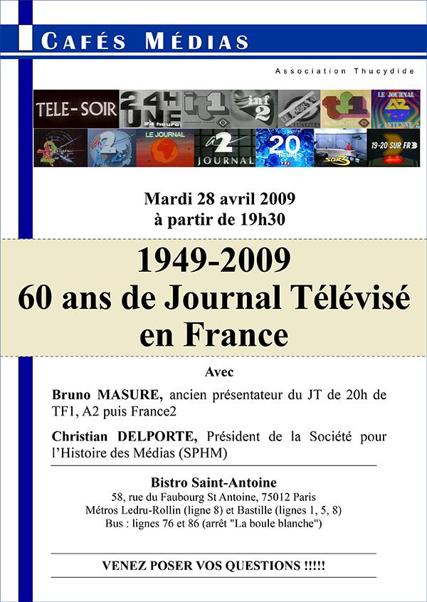 1949-2009 : 60 ans de Journal Télévisé en France - Café Médias
