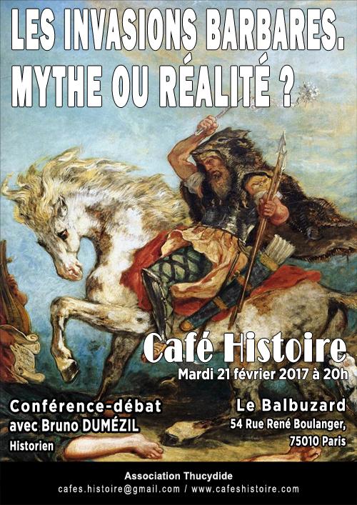 Bruno DUMÉZIL : Les invasions barbares : mythe ou réalité ? - Café Histoire