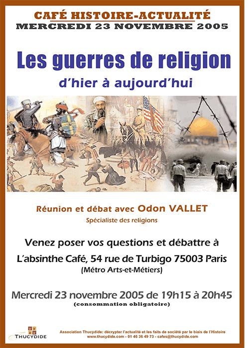 Les guerres de religions - Cafés Histoire avec Odon Vallet