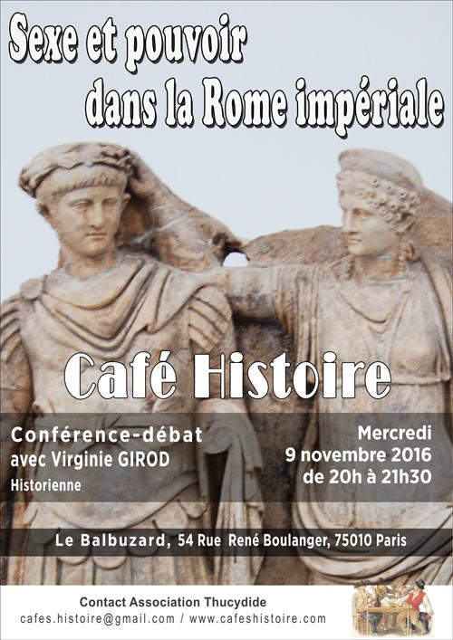 Sexe et pouvoir dans la Rome impériale - Virginie GIROD - Café Histoire