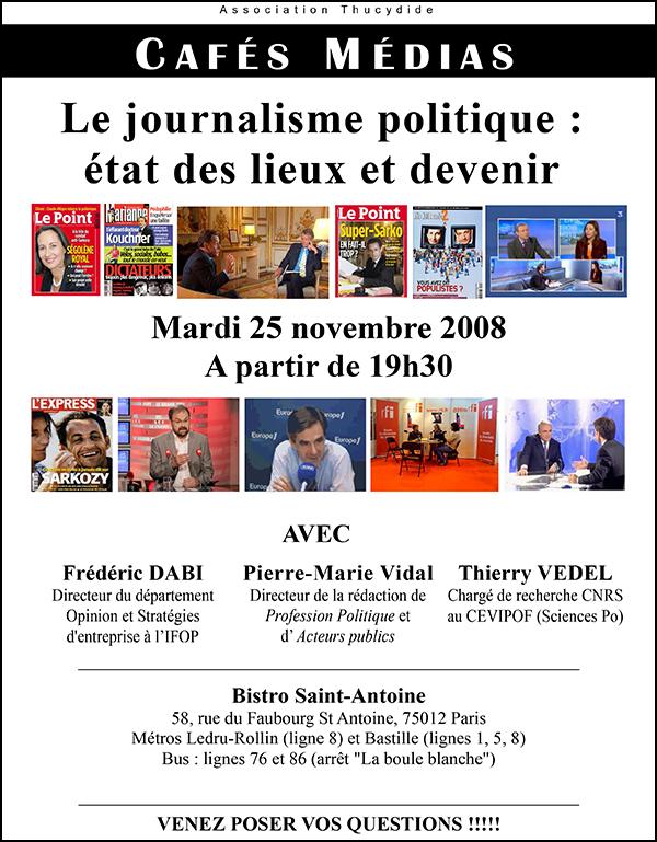 Café Médias, politique et journalisme politique