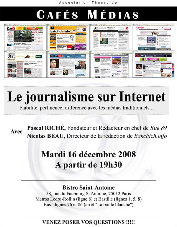 Le journalisme sur Internet - Café Actu Médias