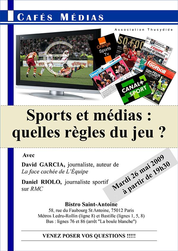 Sport et médias - Café Médias