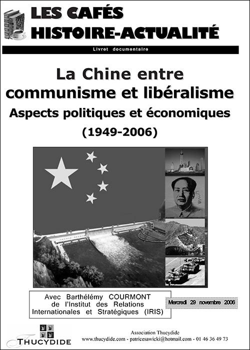 Café Histoire La Chine entre communisme et capitalisme avec Barthélémy COURMONT