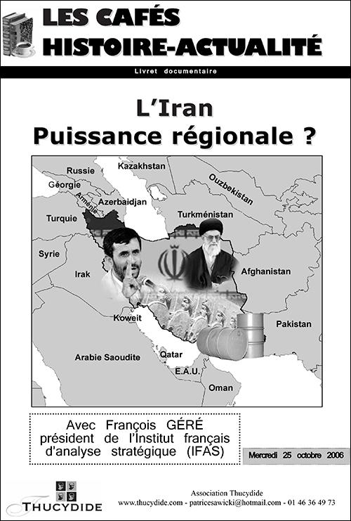 Café Histoire L'Iran, puissance régionale avec François Géré