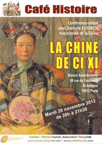 Café Histoire : La Chine de Ci Xi (Tseu Hi)