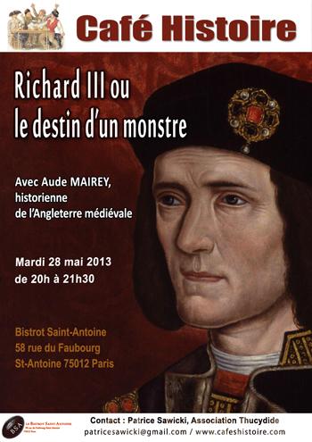 Café Histoire : Richard III ou le destin d'un monstre