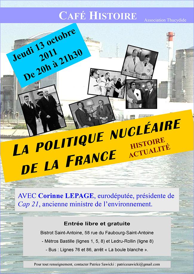 La politique nucléaire de la France - Café Histoire