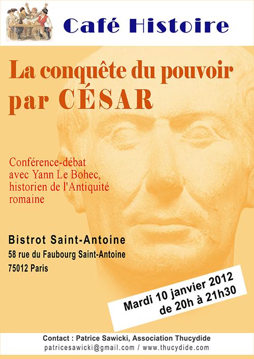 La conquête du pouvoir par César - Café Histoire