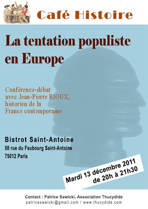 Café Histoire sur les populismes : La tentation populiste