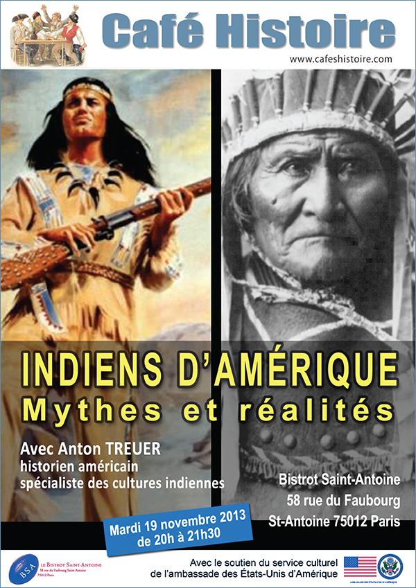 Café Histoire Indiens d'Amérique : mythes et réalités
