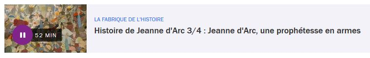 Jeanne d'Arc, une prophétesse en armes