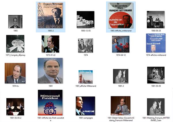 Mitterrand - Campagnes politiques en images