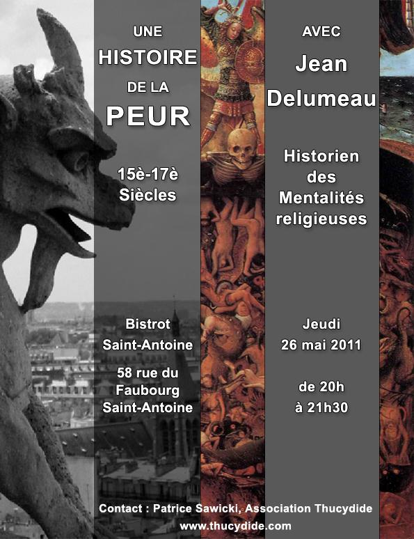 Une histoire de la peur - 15e-17e siècles - Café Histoire avec Jean DELUMEAU